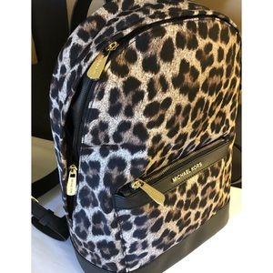 $248 Michael Kors Leopard Backpack Handbag MK Bag